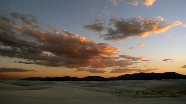 Sunset, White Sands NM