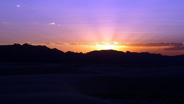 Sunset over the Dunes, White Sands